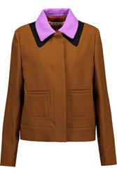 Marni Wool And Cotton Crepe Jacket Camel