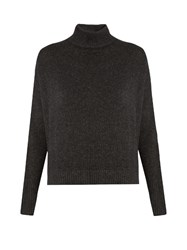 Le Kasha Island High Neck Cashmere Sweater Charcoal