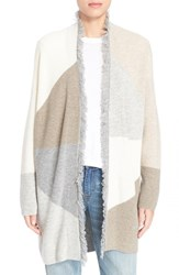Women's Loma 'Lauren' Colorblock Wool And Cashmere Cardigan