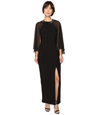 Rsvp Brighton Chiffon Dress Black Women's Dress