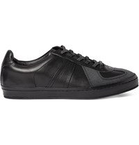 Hender Scheme Mip 05 Panelled Nubuck And Leather Sneakers Black