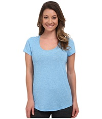 Lucy S S Workout Tee Bright Blue Heather Women's Workout