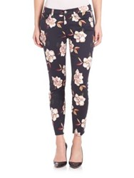 7 For All Mankind Floral Print Skinny Jeans Calypso Floral