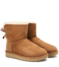 Ugg Mini Bailey Bow Ii Suede Boots Brown