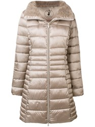 Save The Duck Zipped Padded Coat Grey