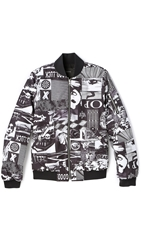 Surface To Air Pop Reversible Bomber Jacket Pop Print Black