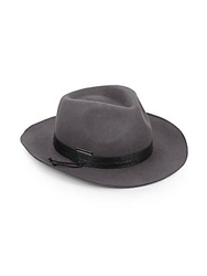 Vince Camuto Rope Trimmed Wool Hat Grey