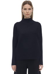 Falke Oversize Technical Viscose Blend Sweater Navy