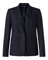Jigsaw Flecked Tailoring London Jkt Navy