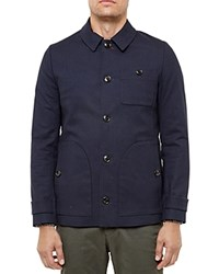 Ted Baker Yesman Overcoat Navy