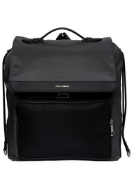 Dolce And Gabbana Nylon Backpack W Leather Pocket