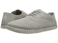 Toms Camino Lace Up Drizzle Grey Washed Canvas Men's Lace Up Casual Shoes Gray