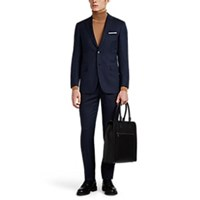 Brioni Brunico Virgin Wool Two Button Suit Navy