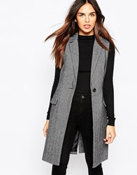 Warehouse Sleeveless Tailored Blazer Grey