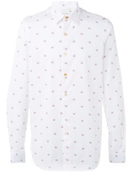 Paul Smith Peace Embroidered Shirt White
