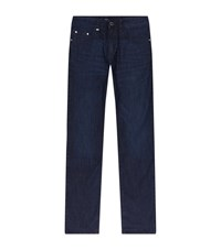 Boss Delaware Slim Fit Faded Jeans Male Blue