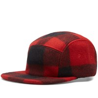 Filson 5 Panel Wool Cap Red