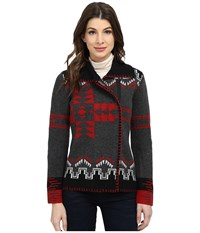 Pendleton Sierra Star Cardigan Charcoal Mix Multi Women's Sweater Black