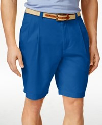 Club Room Men's Double Pleated Shorts Only At Macy's Riviera
