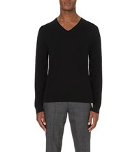 Paul Smith V Neck Wool Jumper Black