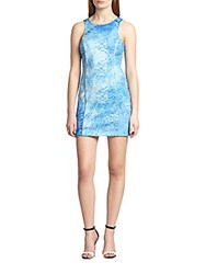 Autograph Addison Joliet Printed Body Con Dress Ocean Print