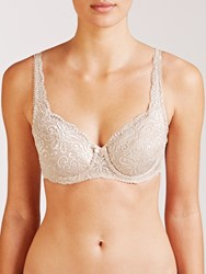 John Lewis Lauren Lace Full Cup Padded Bra Nude