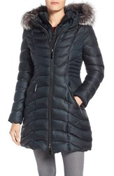 Dawn Levy Women's Genuine Fox Fur Trim Down Parka