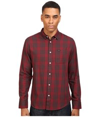 Rvca Lament Long Sleeve Tawny Port Men's Clothing Red