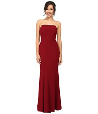 Jill Stuart Harlow Strapless Hourglass Gown Currant Women's Dress Red