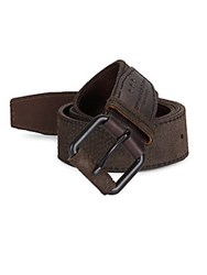 John Varvatos Textured Leather Belt Black