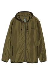 Rvca Axe Packable Water Resistant Jacket Olive