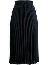 Red Valentino Pleated Mid Length Skirt Blue