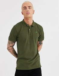 Scotch And Soda Garment Dyed Polo Shirt Green