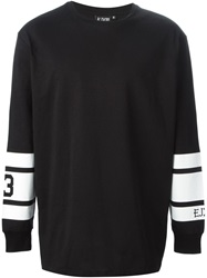 Ejxiii Printed Sleeves Sweatshirt Black