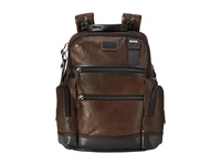Tumi Alpha Bravo Knox Leather Backpack Dark Brown Backpack Bags