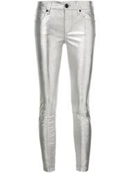 Rta Skinny Leather Pants Metallic