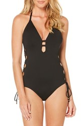 Laundry By Shelli Segal Women's Strapped One Piece Swimsuit