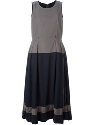 Comme Des Gara Ons Vintage Two Tone Pleated Dress Grey