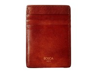 Bosca Dolce Collection Deluxe Front Pocket Wallet Amber Bi Fold Wallet Bronze