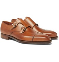 George Cleverley Thomas Leather Monk Strap Shoes Brown