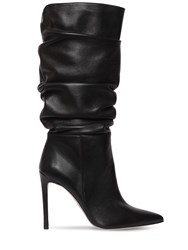 Alexandre Birman 100Mm Lucy Slouchy Leather Boots Black