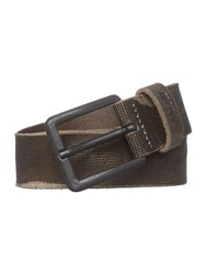 Replay Vintage Leather Belt Grey