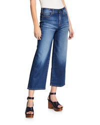 Notify Jeans Silene High Rise Cropped Wide Leg Medium Blue