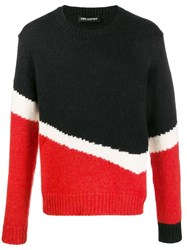 Neil Barrett Colour Block Knitted Jumper 60