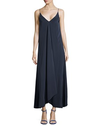 Tibi Silk Handkerchief Hem Maxi Dress
