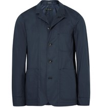 Rag And Bone Radford Slim Fit Cotton Blend Jacket Storm Blue