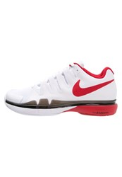 Nike Performance Zoom Vapor 9.5 Tour Outdoor Tennis Shoes White University Red Black