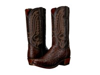 Lucchese Hueco Sienna Cowboy Boots Brown