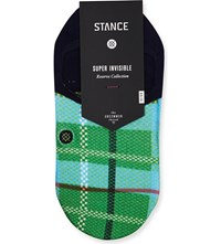 Stance China Plaid Invisible Cotton Blend Socks Navy