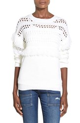 Women's J.O.A. Openwork Pullover Ivory